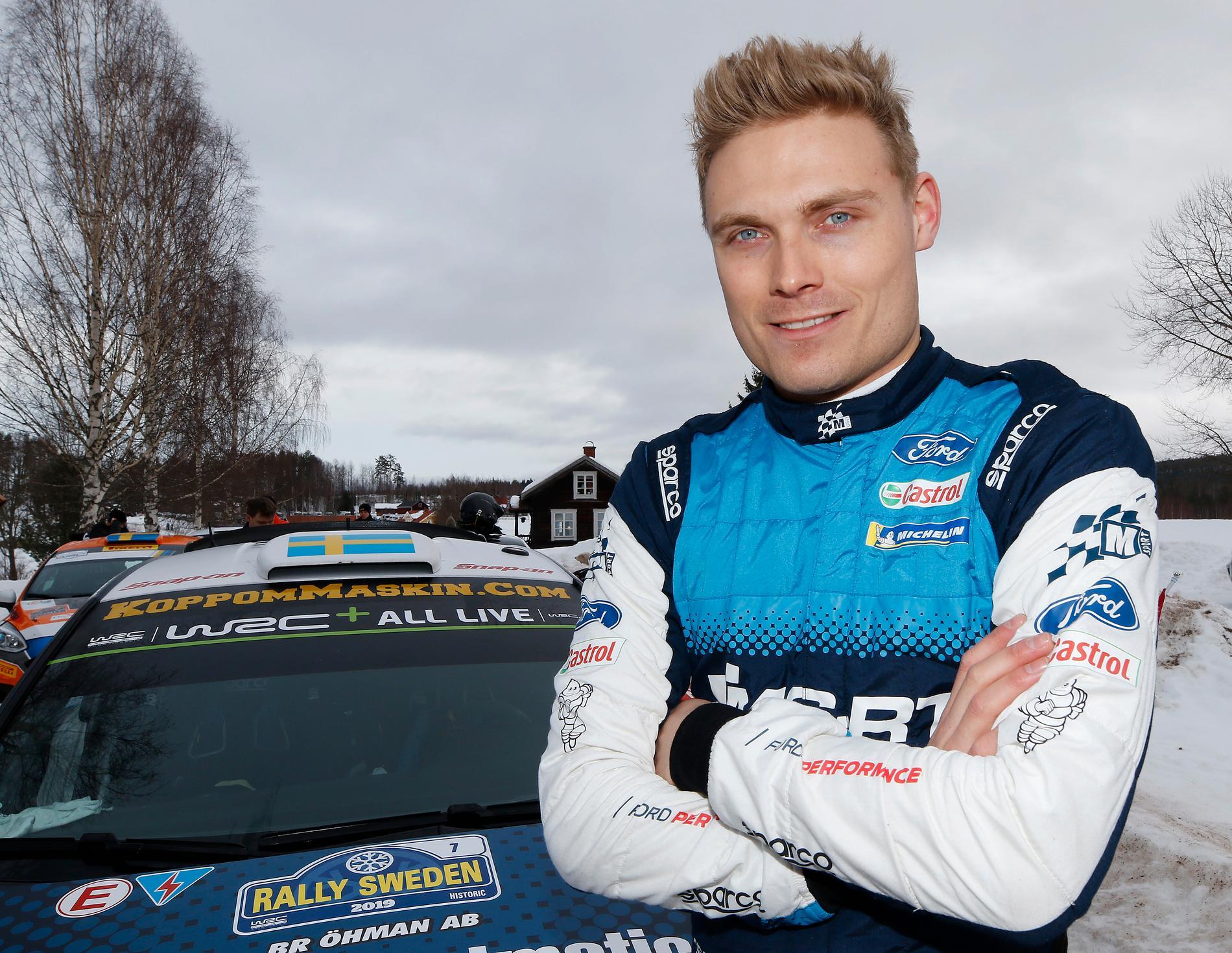 """""""All cred till FIA och arrangörerna som får ihop ett rally, trots allt"""", säger Pontus Tidemand, som kommer till start i WRC2-klassen i Rally Sweden. Arkivbild."""