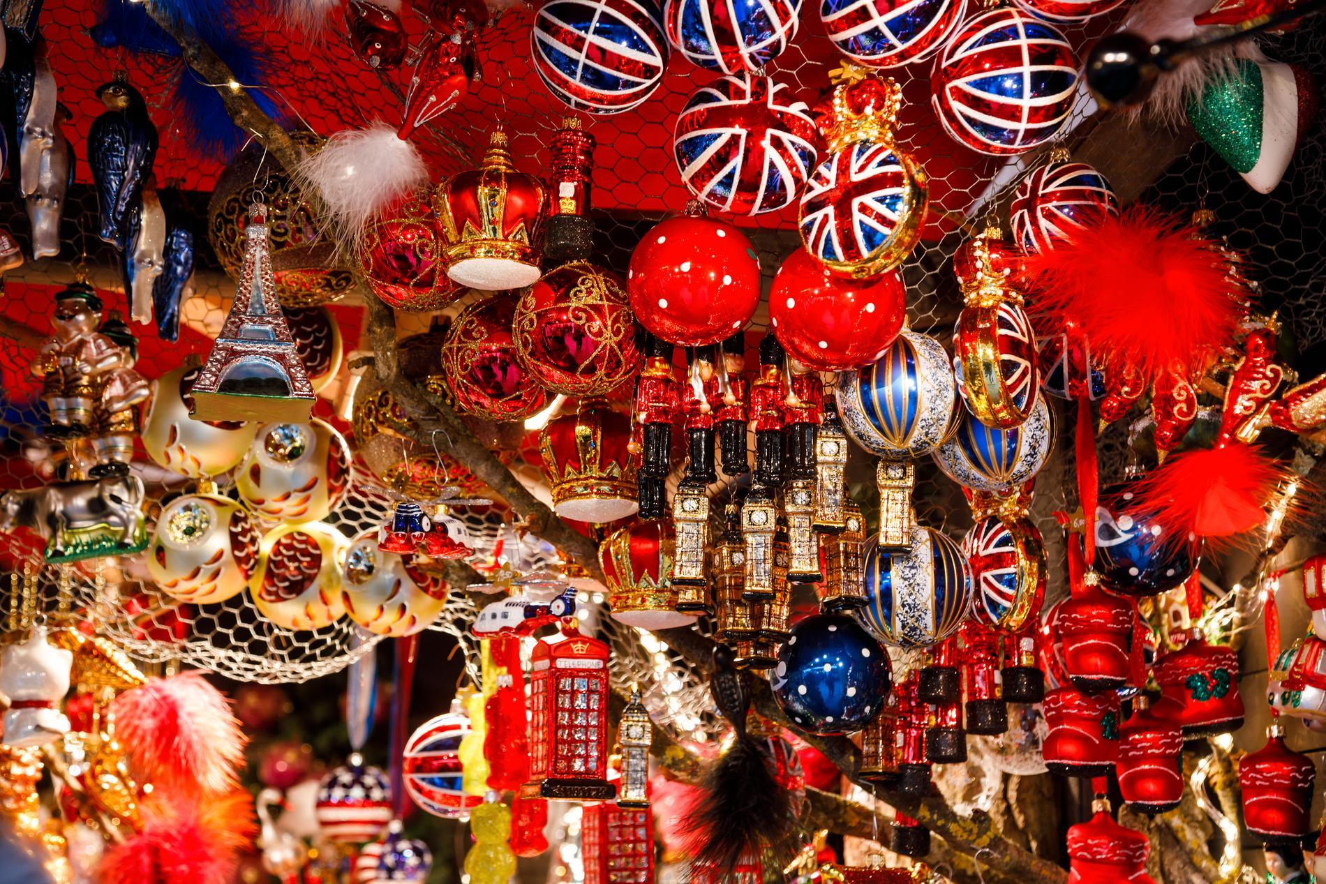 I London arrangeras julmarknader runt om i staden.