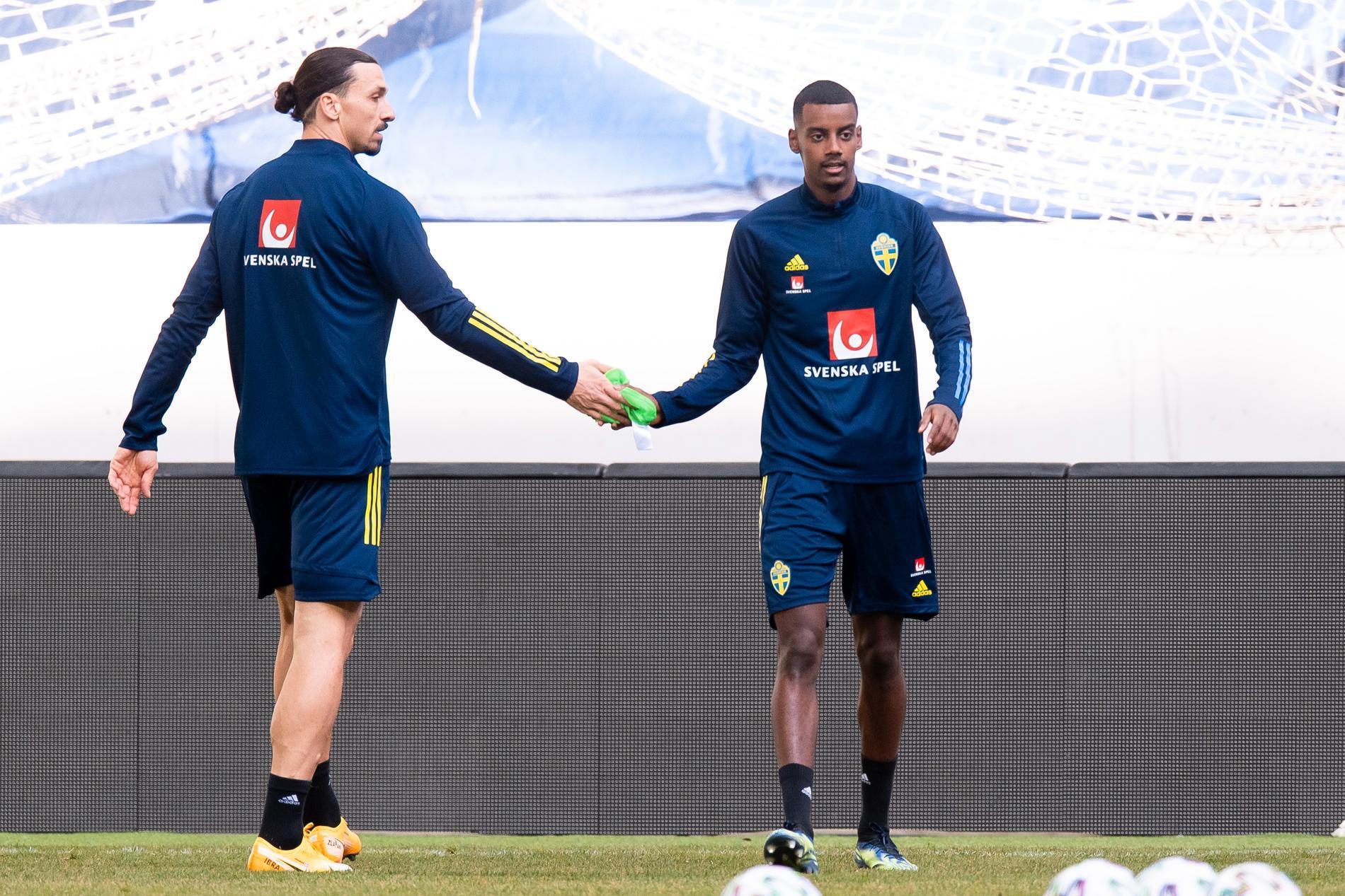 Zlatan och Alexander Isak tränade på topp tillsammans på tisdagens träning.