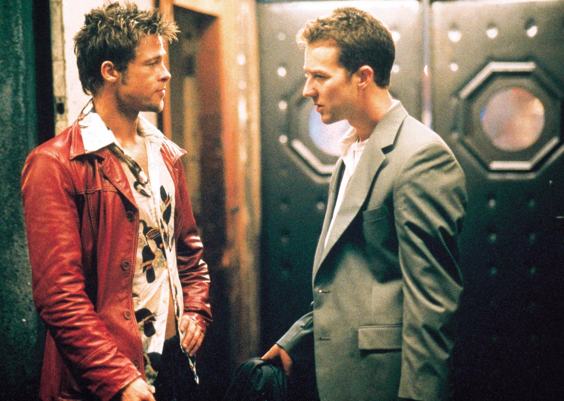 """Brad Pitt och Edward Norton i """"Fight club""""."""