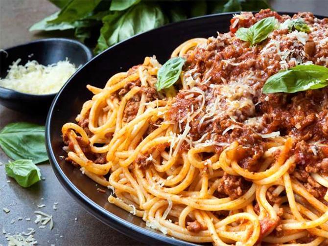 Spagetti med köttfärssås etta på topplistan.