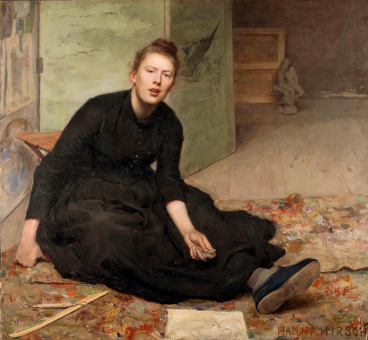 Hanna Hirsch-Paulis porträtt av vännen och skulptören Venny Soldan.