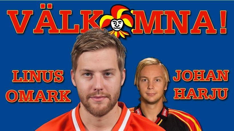 Så här presenteras Omark och Harju på Jokerits hemsida.