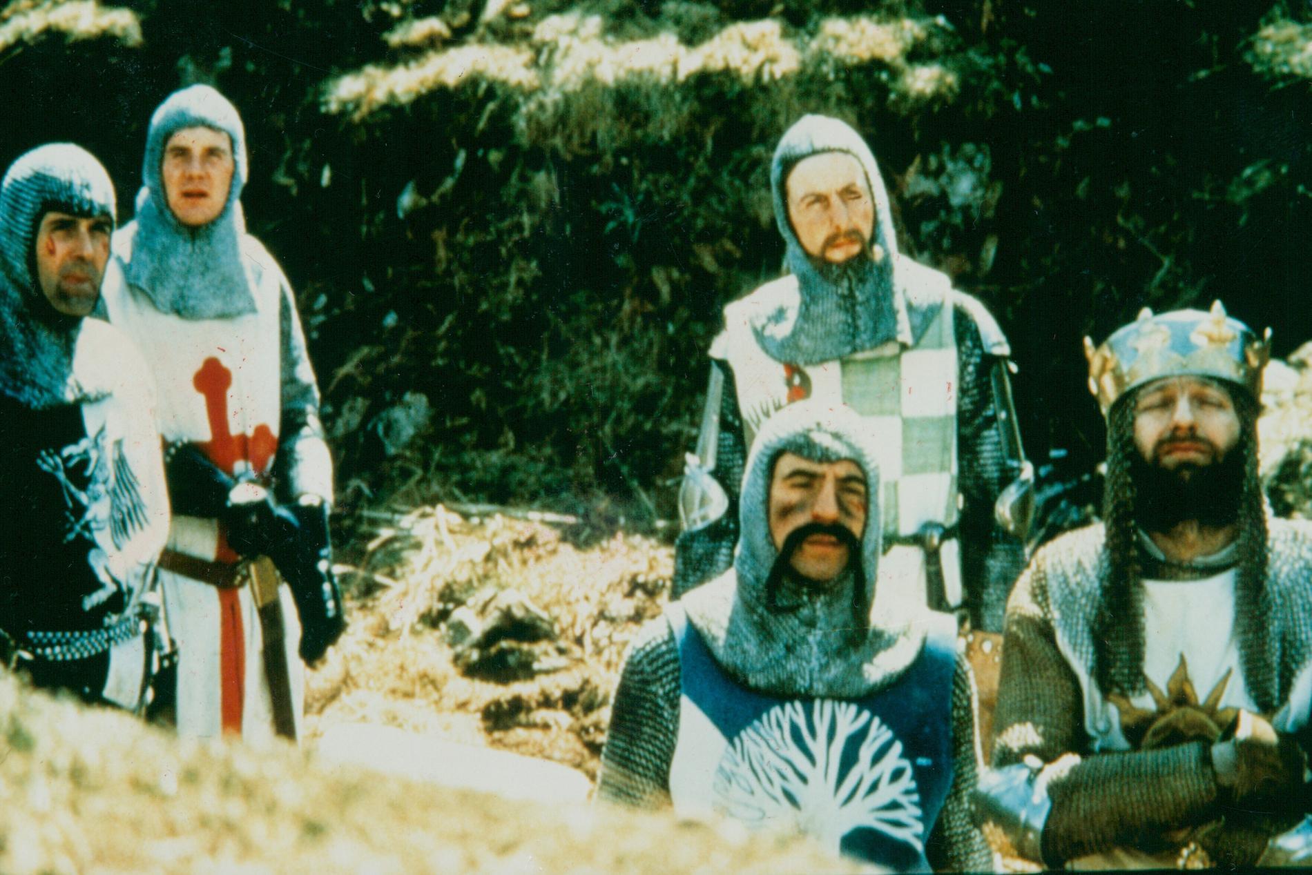 John Cleese, Michael Palin, Eric Idle, Terry Jones och Graham Chapman i Monty Pythons galna värld.