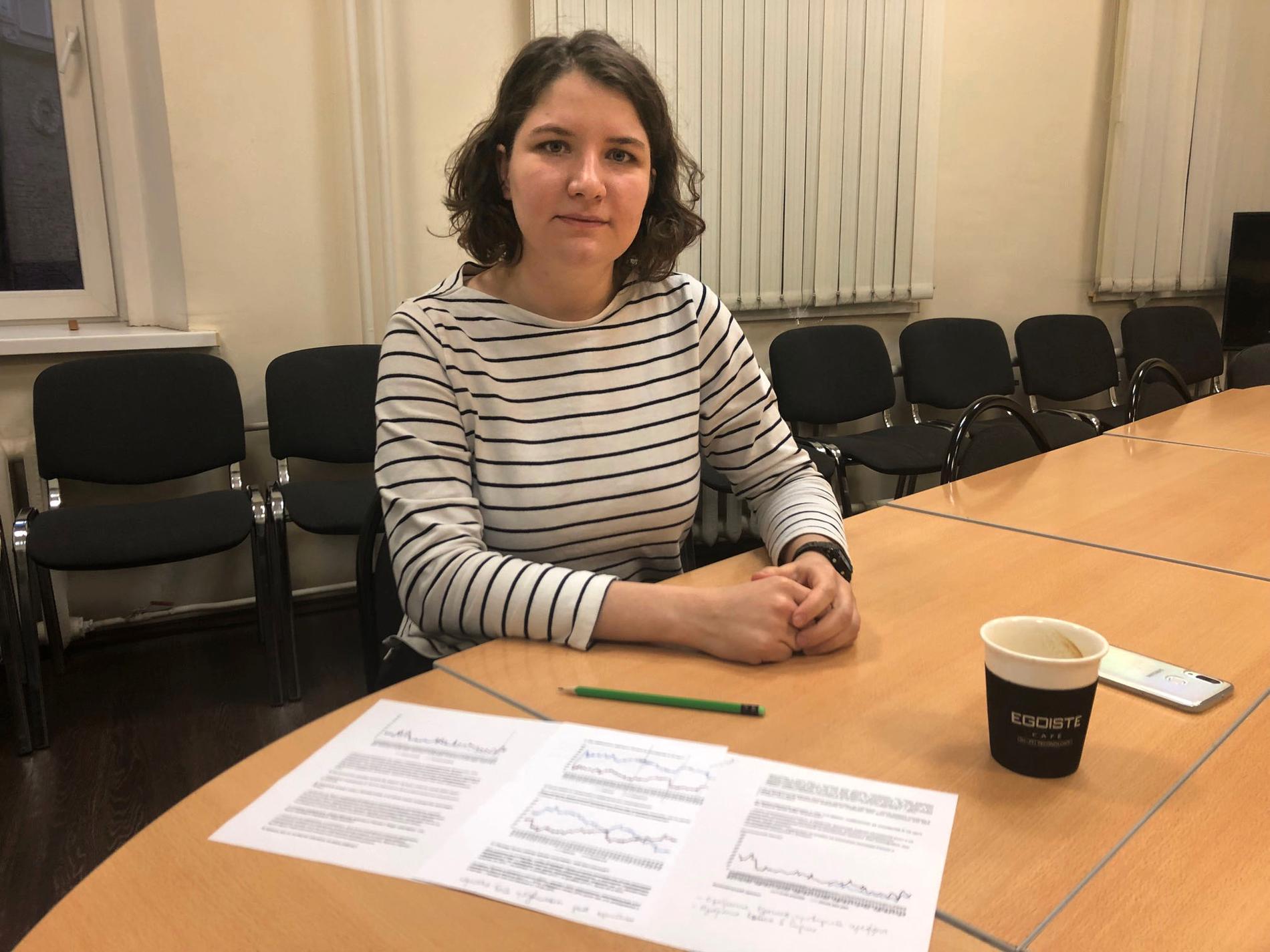 Ekaterina Kochergina, analytiker på Levada Center.
