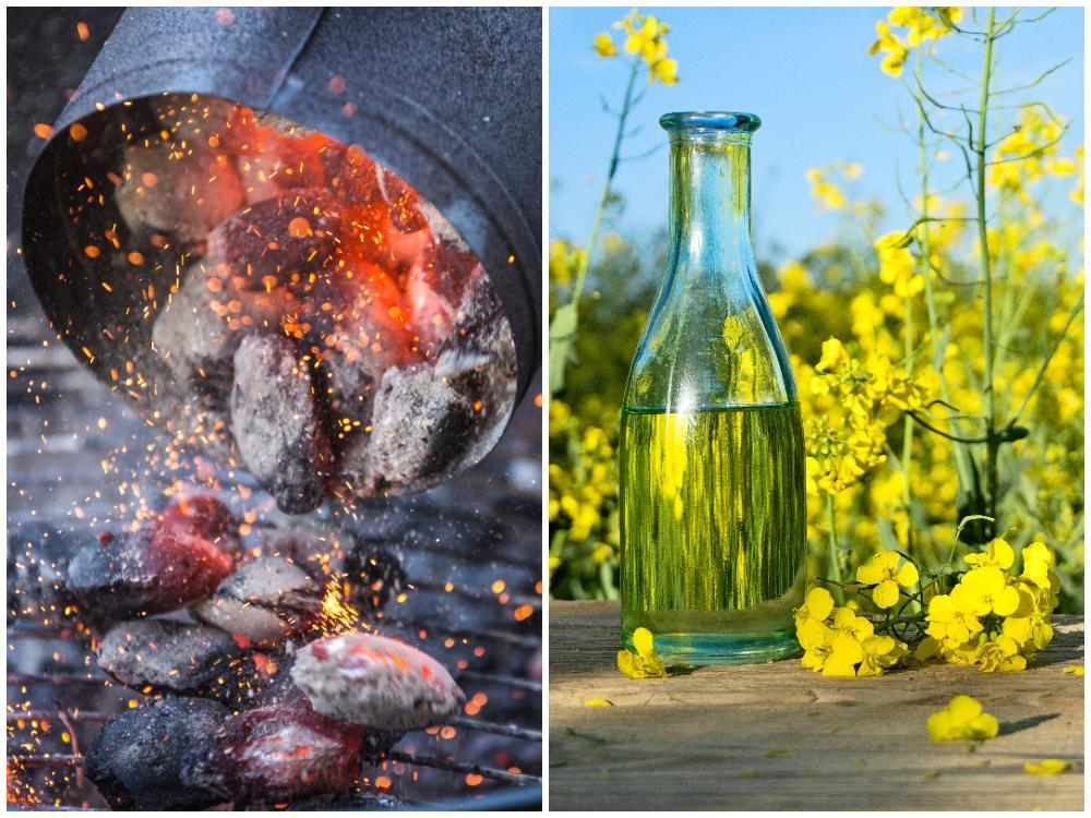 Tändrör eller rapsolja är miljövänliga sätt att tända grillen på.