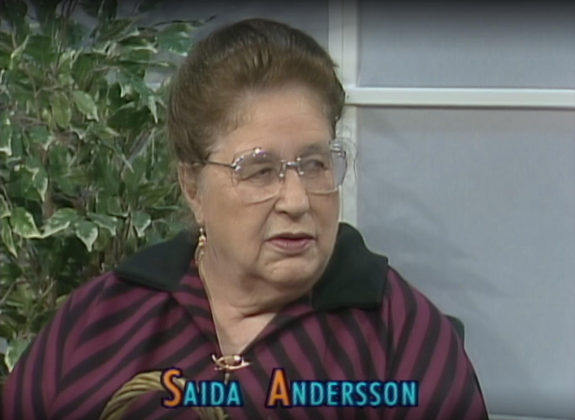"""Sierskan Saida Andersson blev populär när hon siade i SVT:s """"Café Luleå""""."""