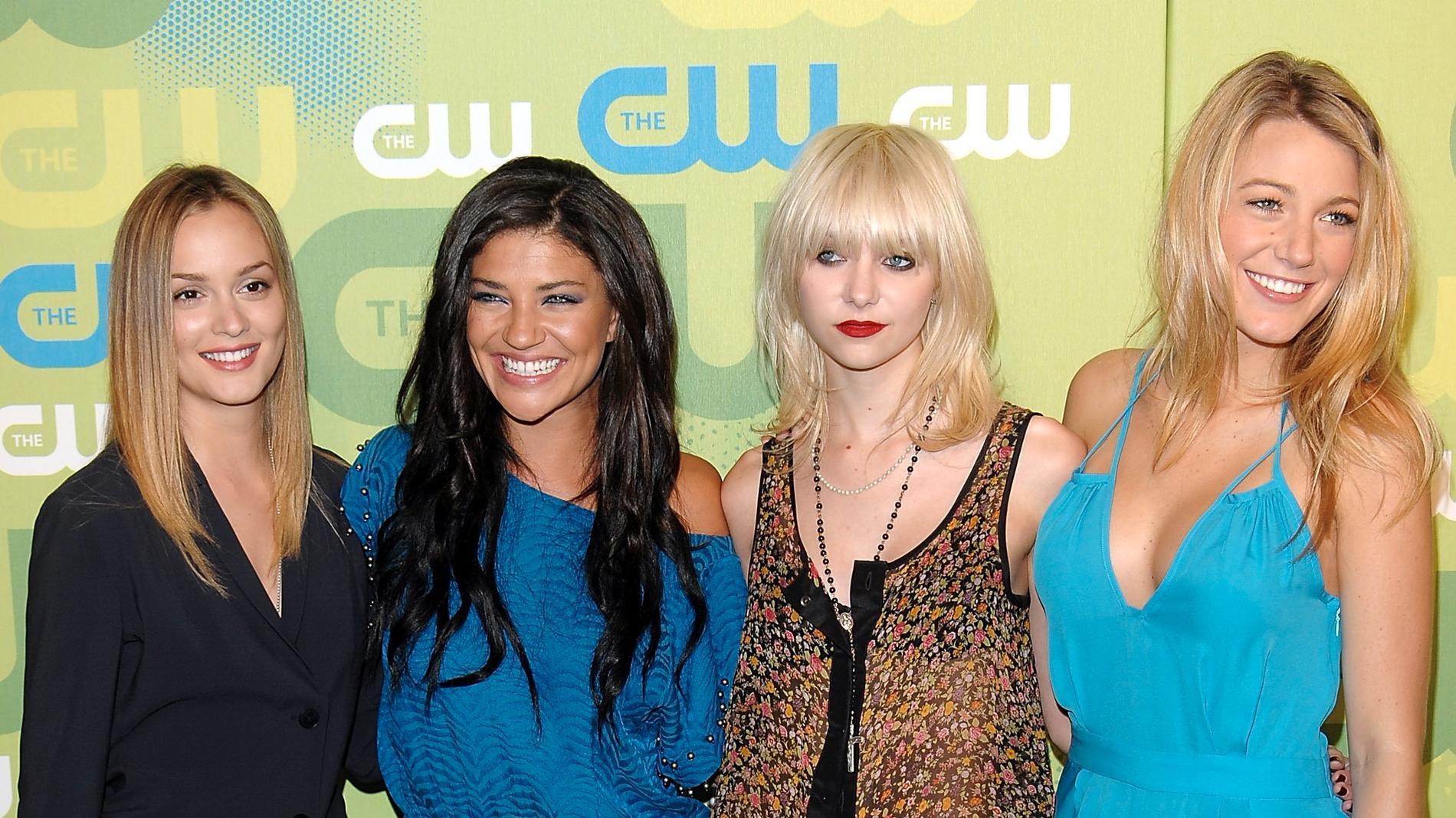 """När det begav sig: Leighton Meester, Jessica Szohr, Taylor Momsen och Blake Lively i gamla """"Gossip Girl"""". Arkivbild."""