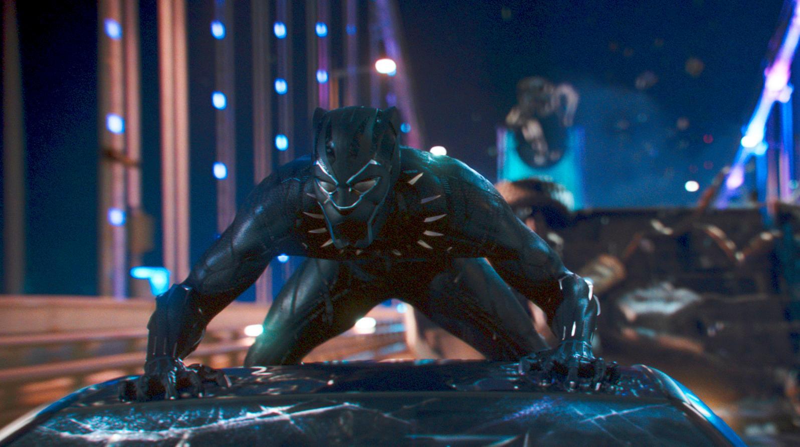 """""""Black Panther"""" med Chadwick Boseman blev en enorm succé 2018. Arkivbild."""