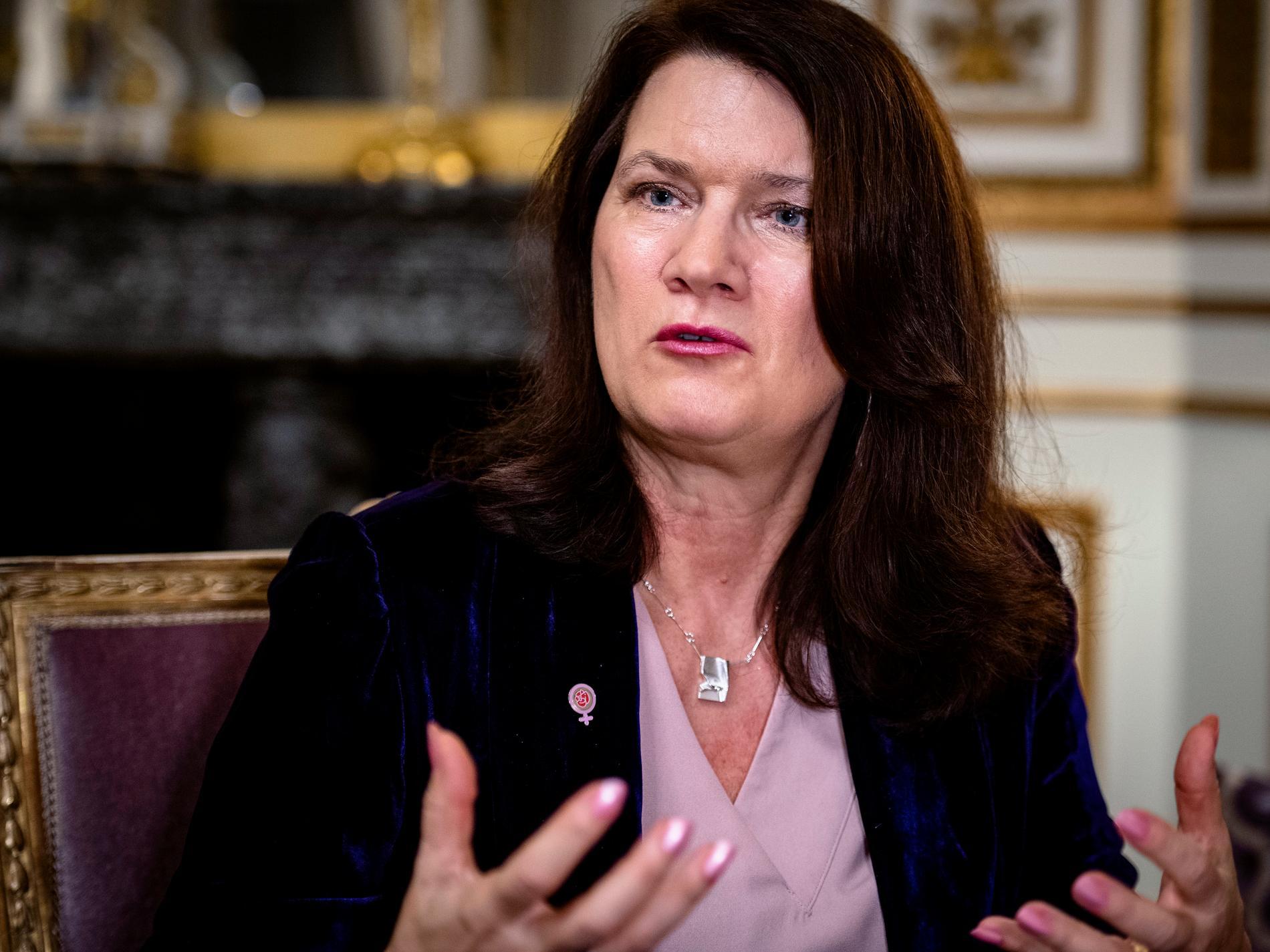 Utrikesminister Ann Linde.