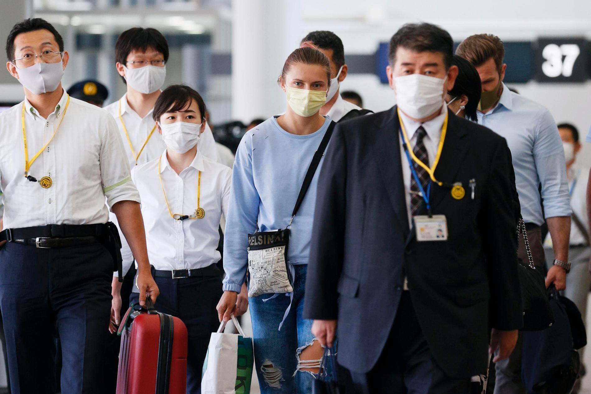 Kristina Timanovskaja på flygplatsen i Tokyo
