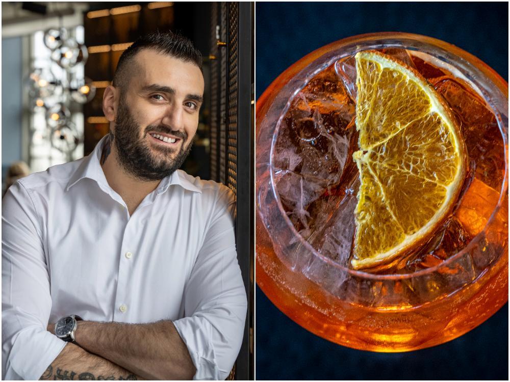 George Kahkejian är barchef på Vy NKPG i Norrköping och är känd för att mixa ihop helt nya drinkar – några med vilka han vunnit flera priser.