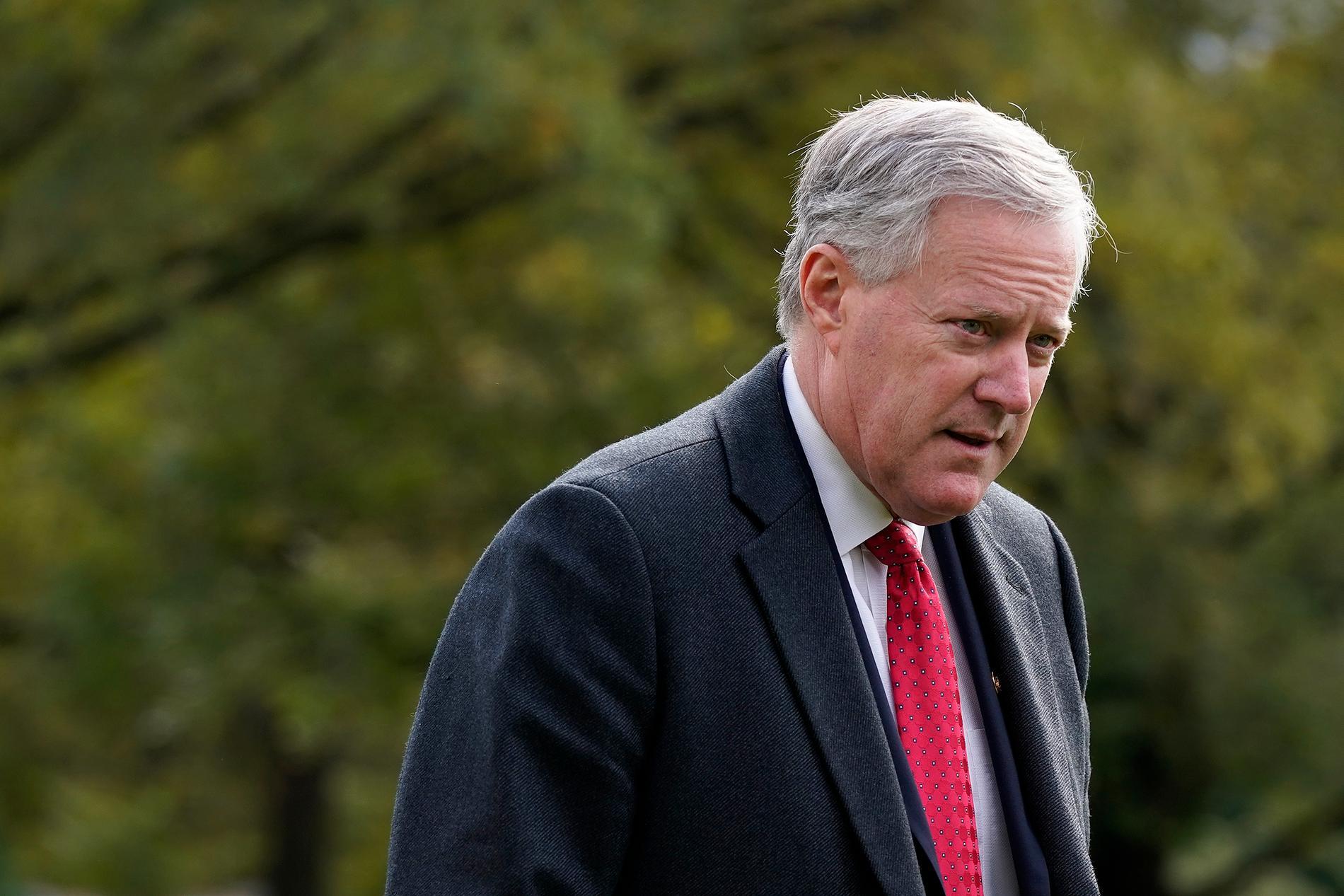 Vita husets dåvarande stabschef Mark Meadows kallas som vittne i representanthusets utredning om stormningen av Kapitolium den 6 januari. Arkivbild.