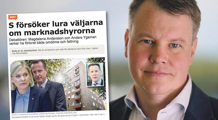 Konsekvenserna av M-förslaget om marknadshyror blir trångboddhet, segregation och höga hyror, skriver Johan Löfstrand.