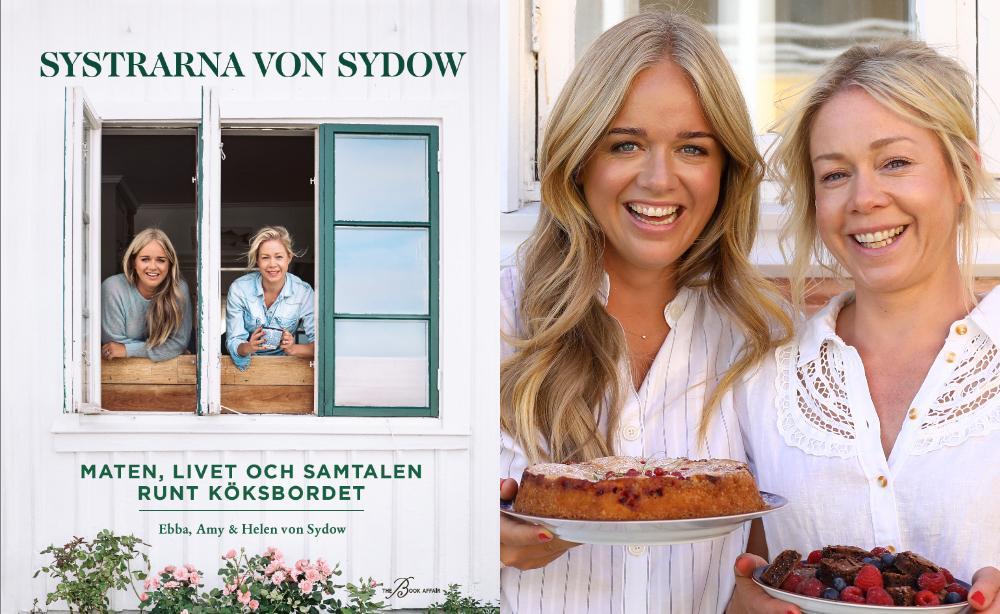 Systrarna Ebba och Amy von Sydow med sin nya kokbok.