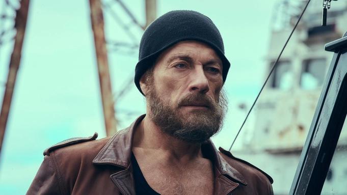 """Jean-Claude van Damme med lösskägg i """"Den sista legosoldaten""""."""
