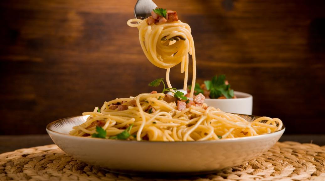 Pasta carbonara, klassiker med goda smaker.