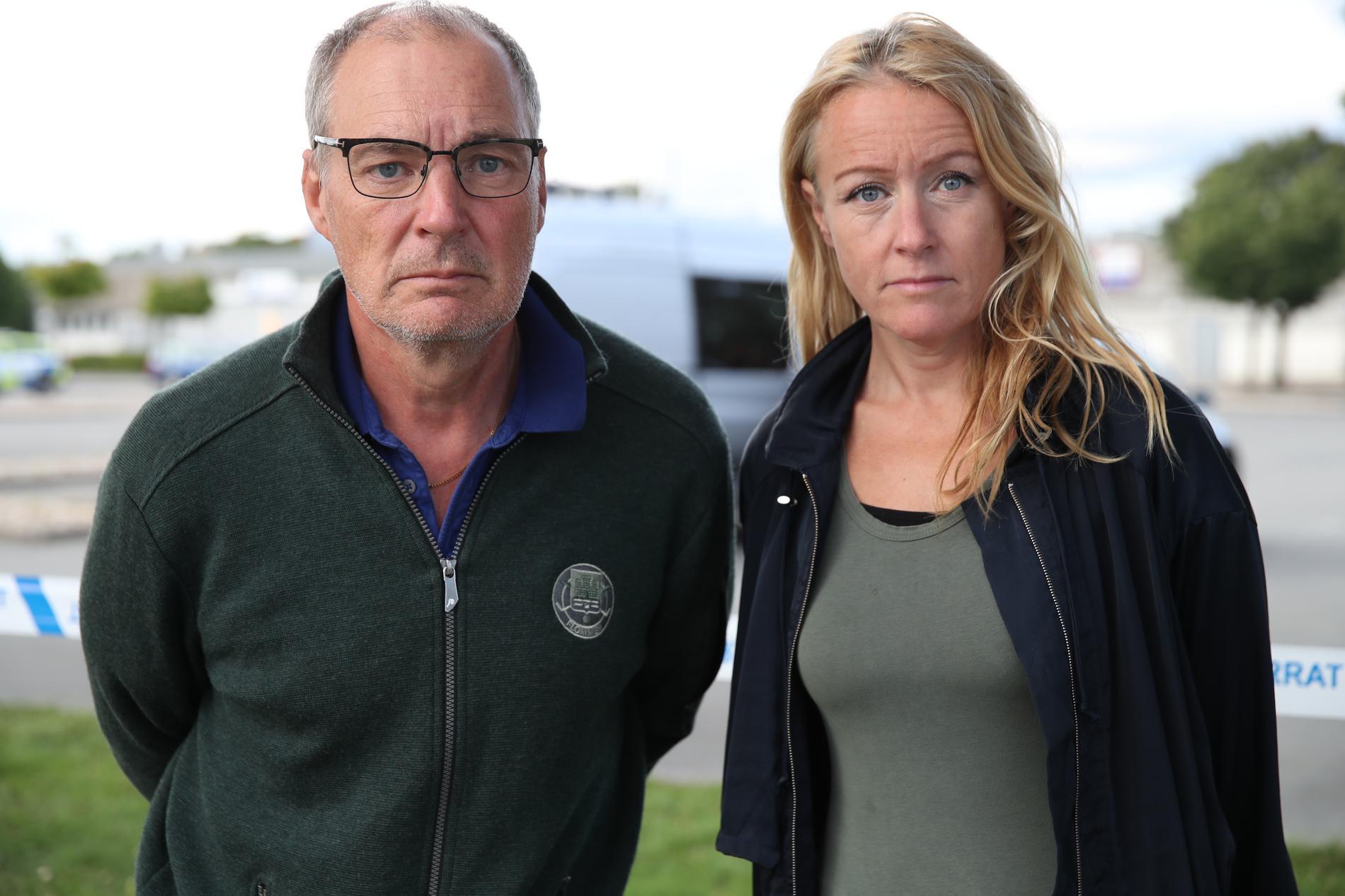 Krister Hansson och Susanna Nygren på plats i Kristianstad.