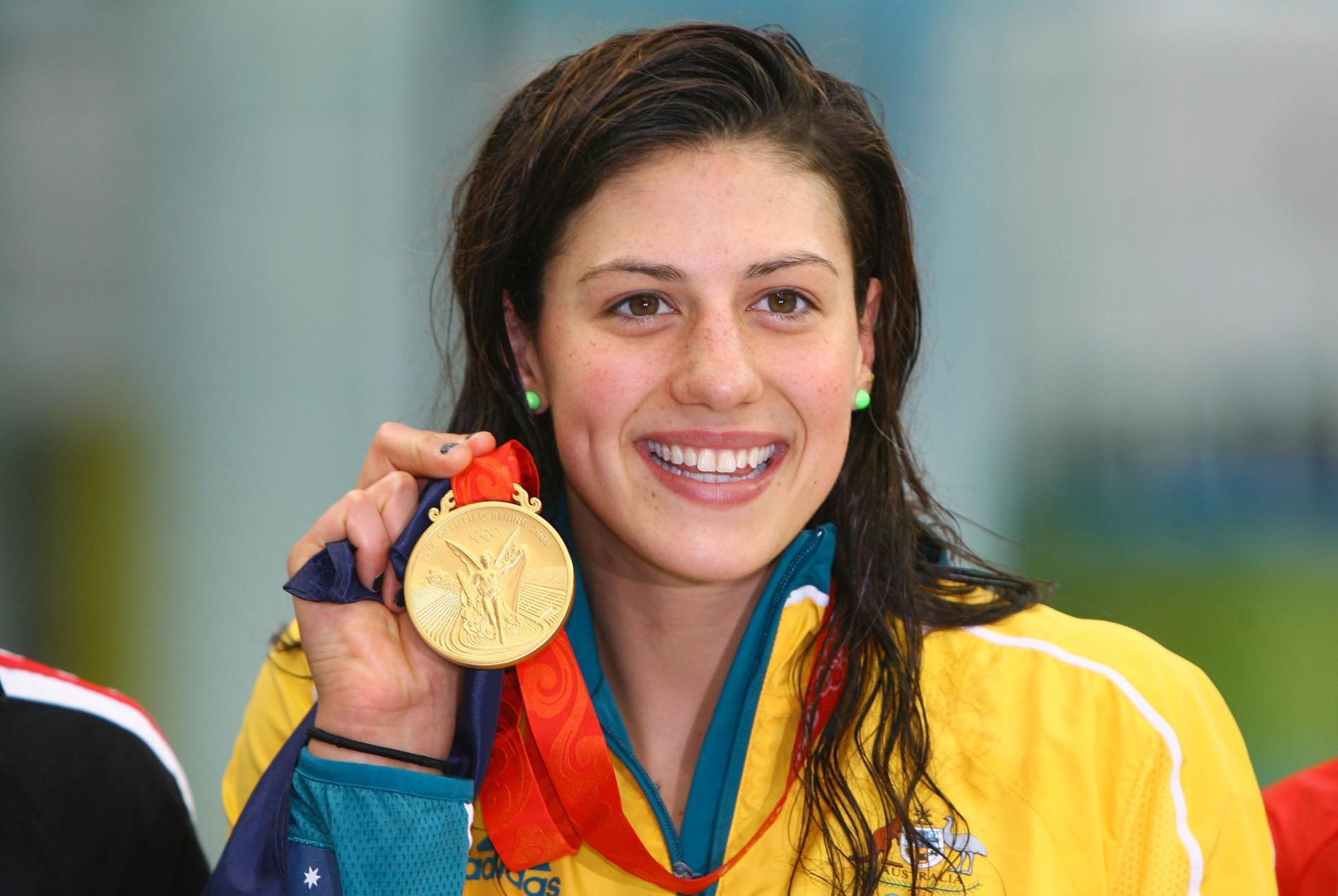Stephanie Rice tog tre OS-guld 2008.