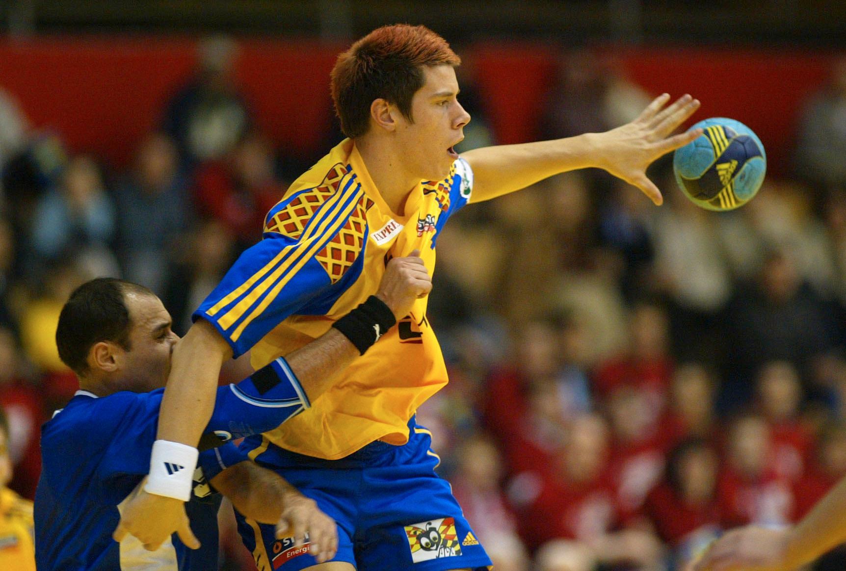 Kim Andersson mot Serbien/Montenegro, EM 2004.