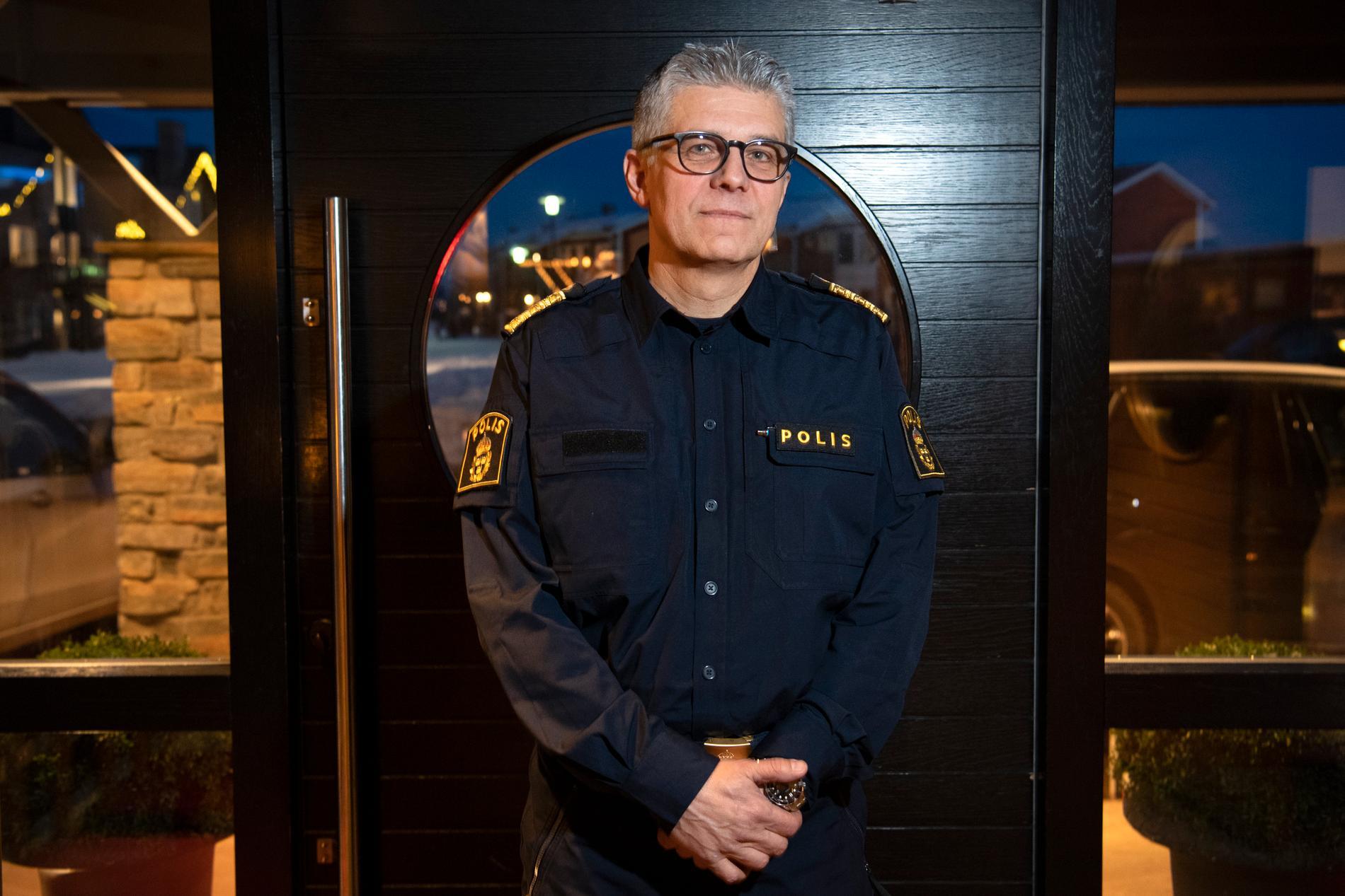 Rikspolischefen Anders Thornberg vill kunna få stöd av försvaret vid en eskalerande gråzonsproblematik. Arkivbild.