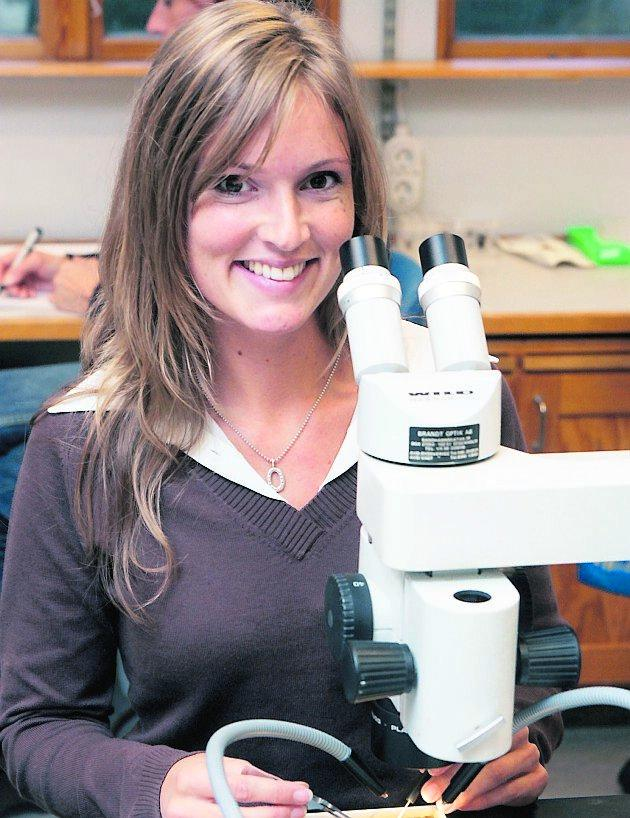artfyndare Kajsa Glemhorn, insektsforskare, har att göra i vinter. Över 1 000 nya arter ska registreras och katalogiseras.