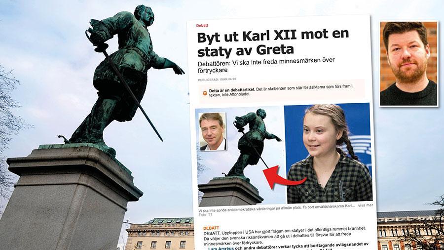 Paradoxalt nog för Björinge kan Karl XII-statyns historia snarare ses som en del av vår demokratiska historia. Och det tycker jag kan vara värt att hålla i åtanke innan man skickar grävskoporna till Kungsträdgården. Replik från historikern Oskar Sjöström.