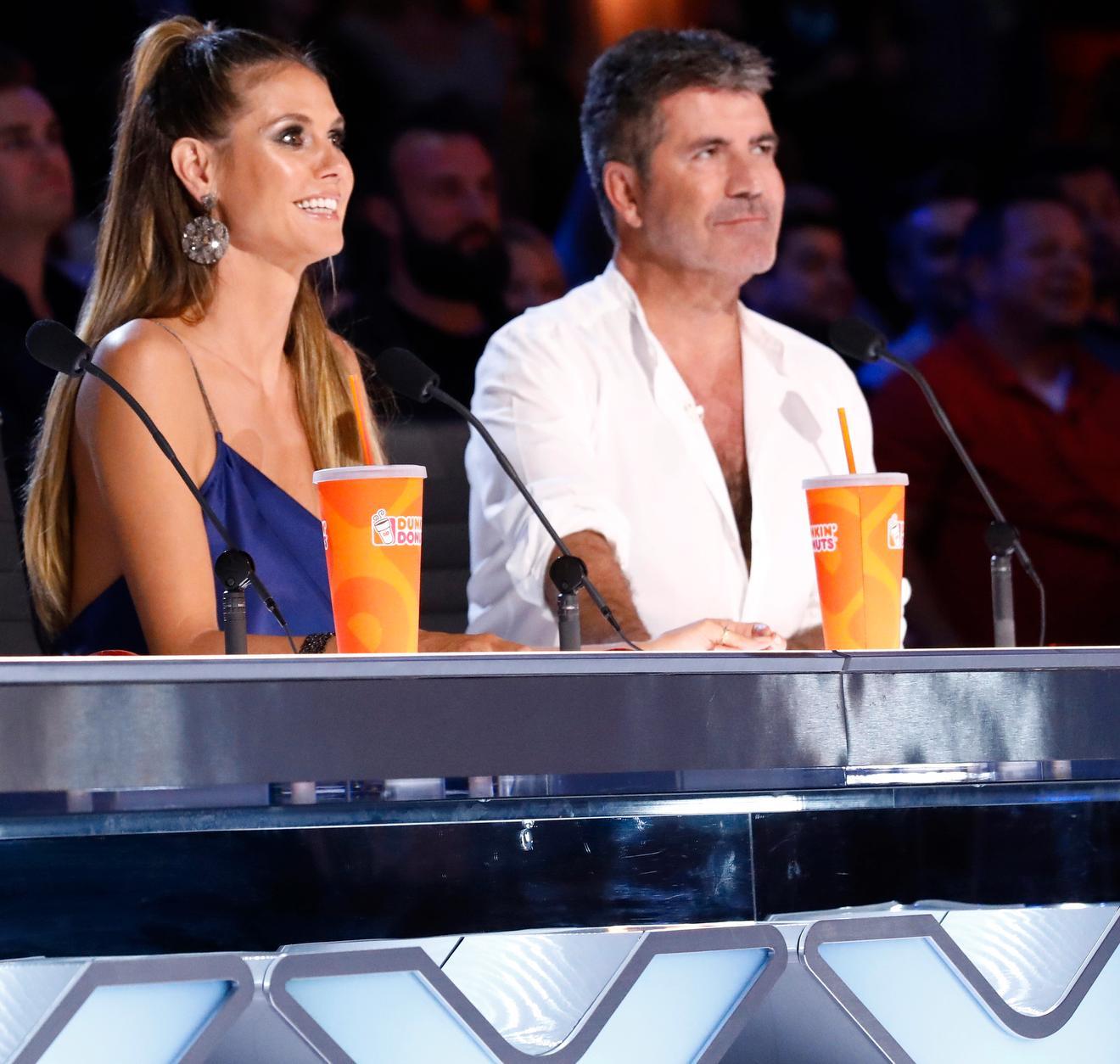 """Heidi Klum och Simon Cowell i """"America's got talent""""."""