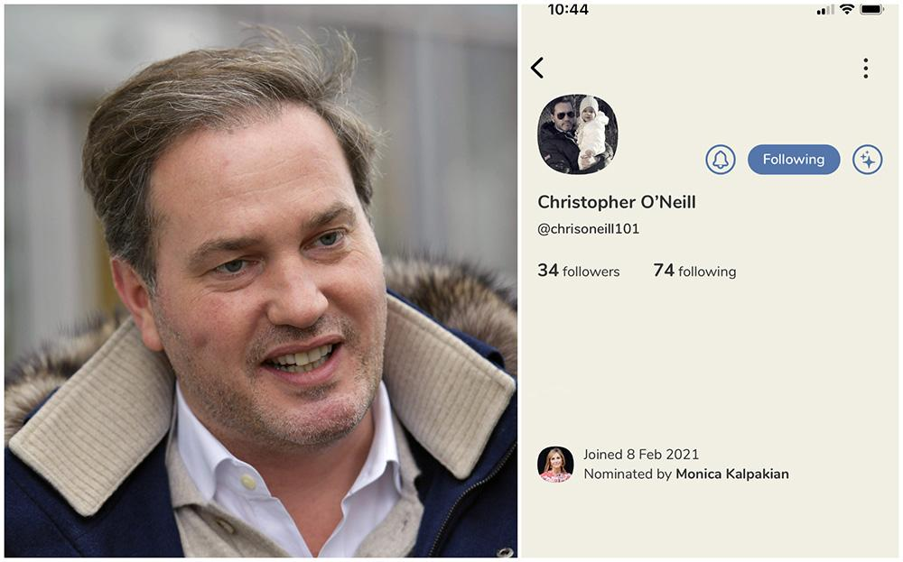 Chris O'Neill har skapat sig ett nätverk på nya appen Clubhouse.