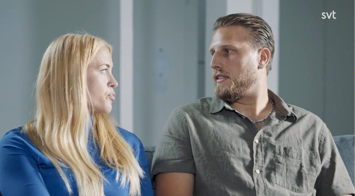 """Susanna Lundberg och Johan Skantz i """"Gift vid första ögonkastet""""."""