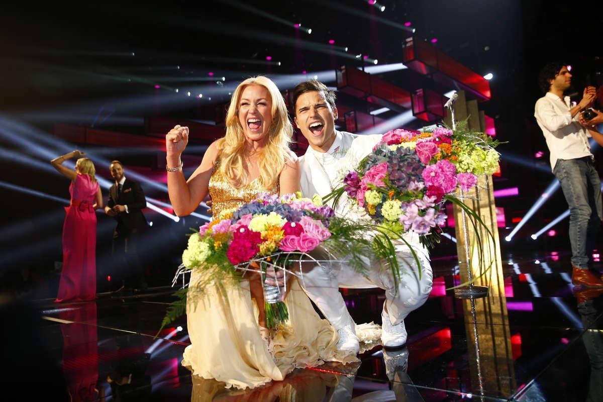 Eric Saade och Jessica Andersson gick direkt till final.