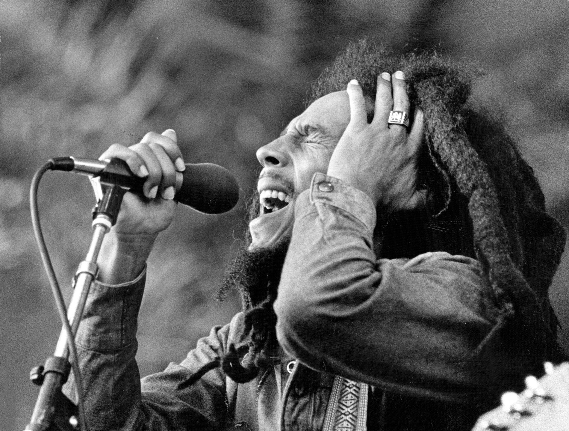 Bob Marley på ett svenskt nöjesfält, 1980.