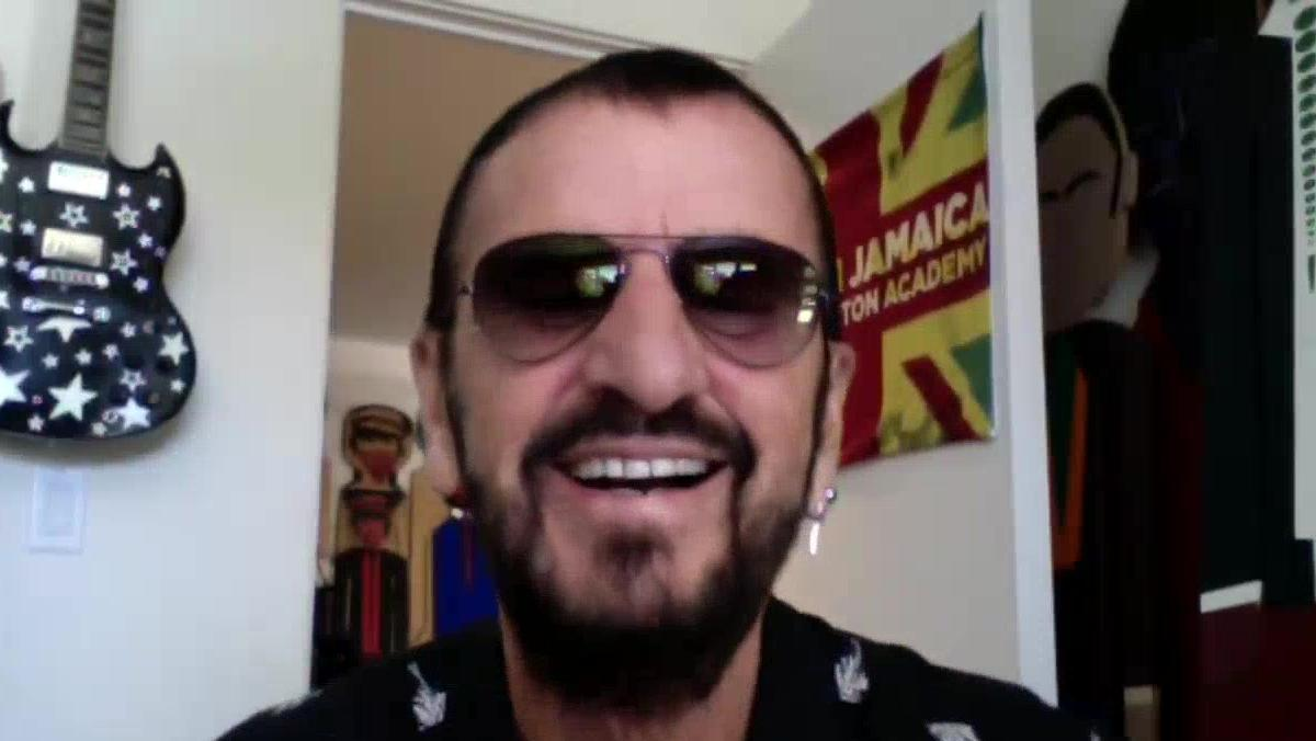 Ringo Starr under videosamtalet.