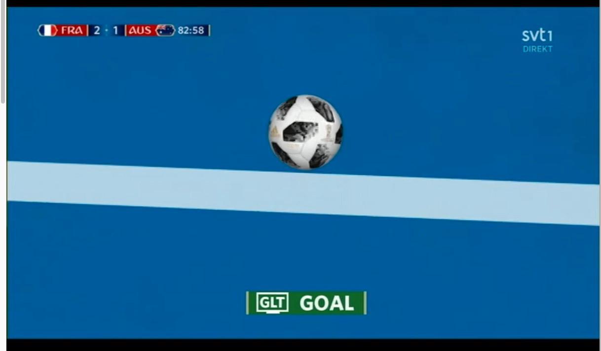Videobedömningen vid Pogbas mål.