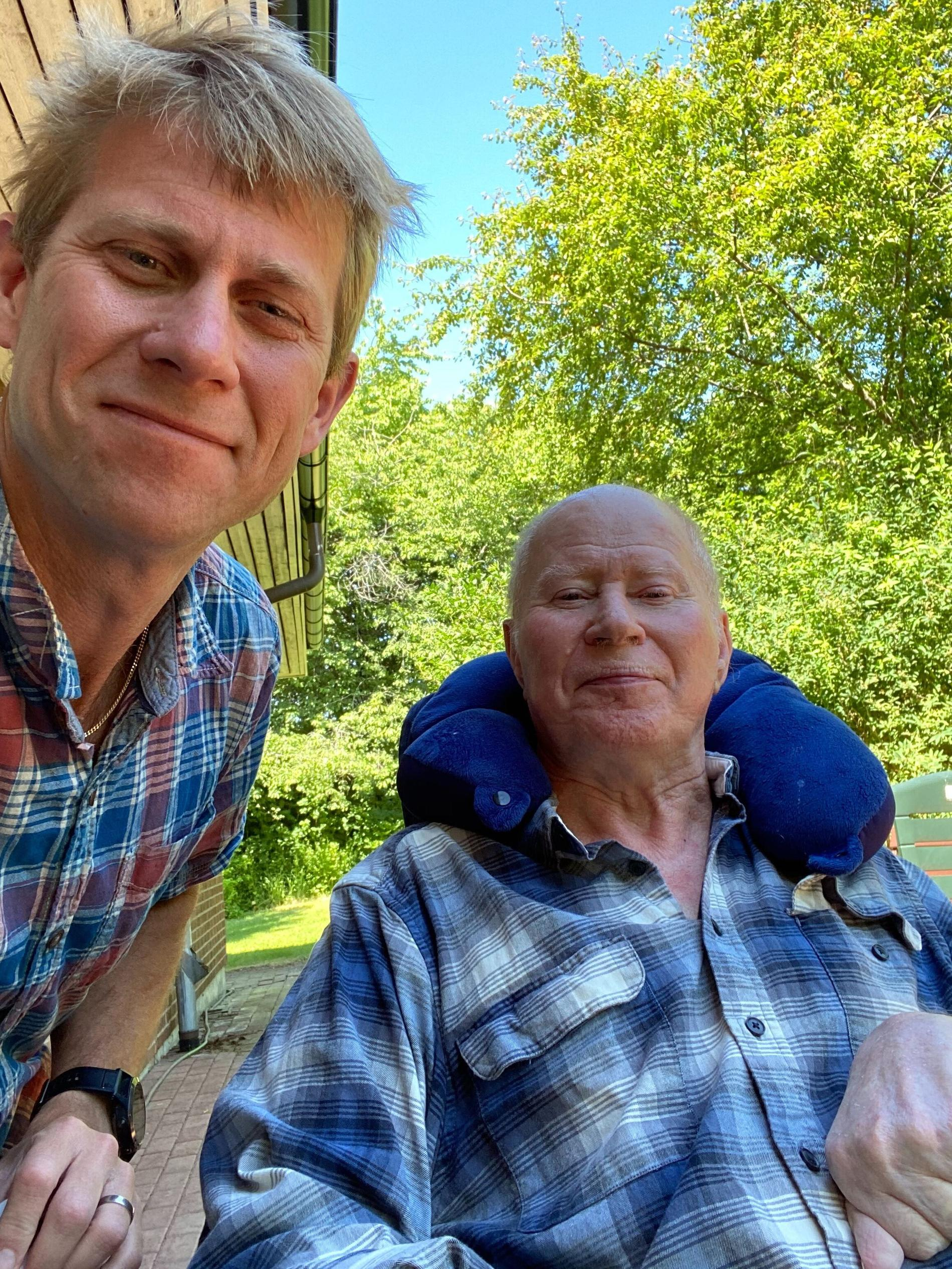 Thomas Andersson och pappa Jan, 81.