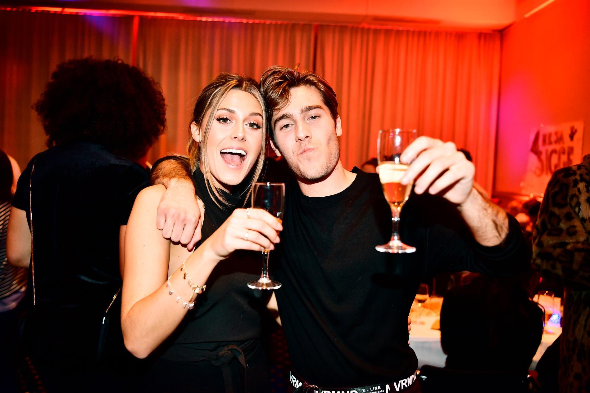 Bianca och Benjamin Ingrosso på Melodifestivalen 2018