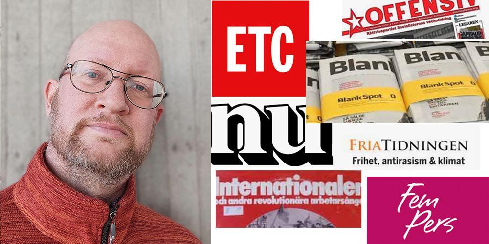 Tidningar med liberal eller vänsterprofil anklagas för bidragsfusk av Mark, en 45-åring i Göteborg, som också koordinerat bidragsansökningar hos MPRT från högerextrema mediesajter, skriver Mathias Wåg, t v.