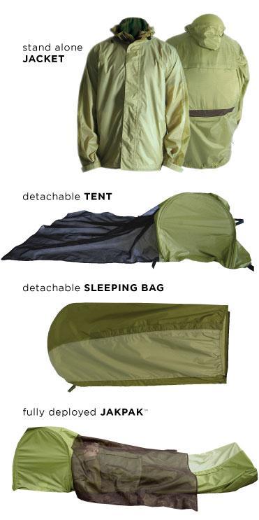 Jacka, tält och sovsäck i ett enda plagg. Priset blir cirka 2700 kronor.
