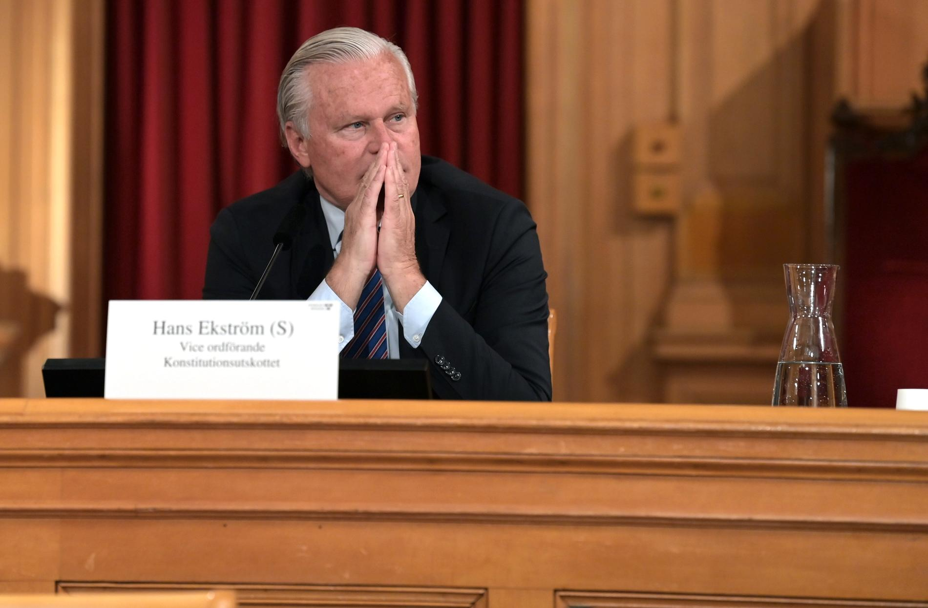Hans Ekström, vice ordförande Konstitutionsutskottet
