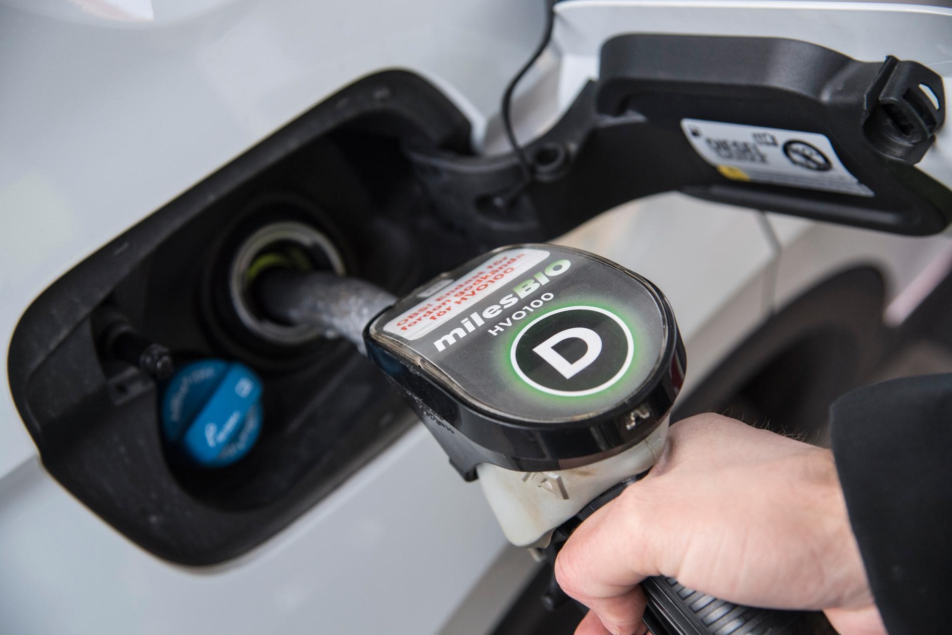 Från och med 1 augusti 2021 ska inblandningen av biodrivmedel öka i svenskt fordonsbränsle, och den 1 januari 2022 förbjuds bränslen som baseras på palmolja Arkivbild.