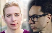 """Karin Pettersson och Georg Diez leder samtalet i """"Anger Management""""."""