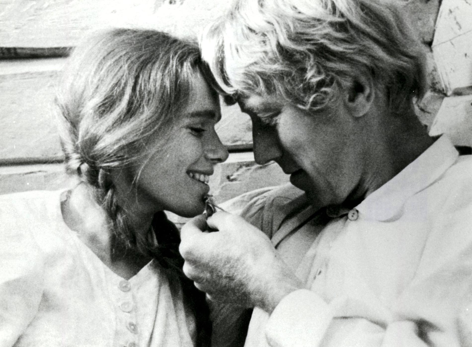"""Liv Ullmann och Max von Sydow i Jan Troells filmatisering av """"Utvandrarna"""" 1971."""