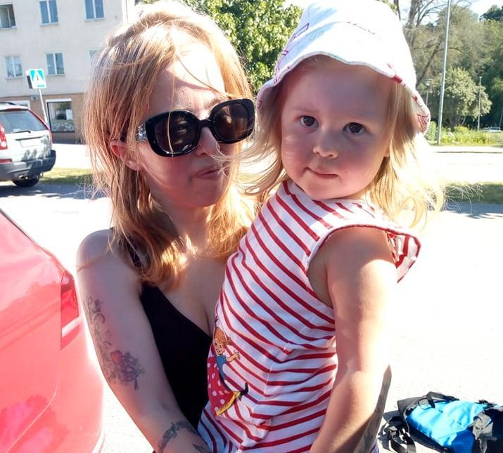 Nathalie Lundvist har inte kunnat handla i Hälleforsnäs sedan förra veckan.