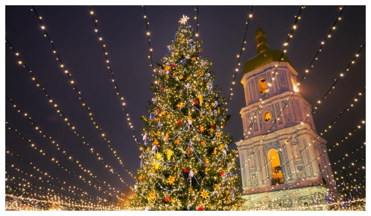 Julgran i Ukraina