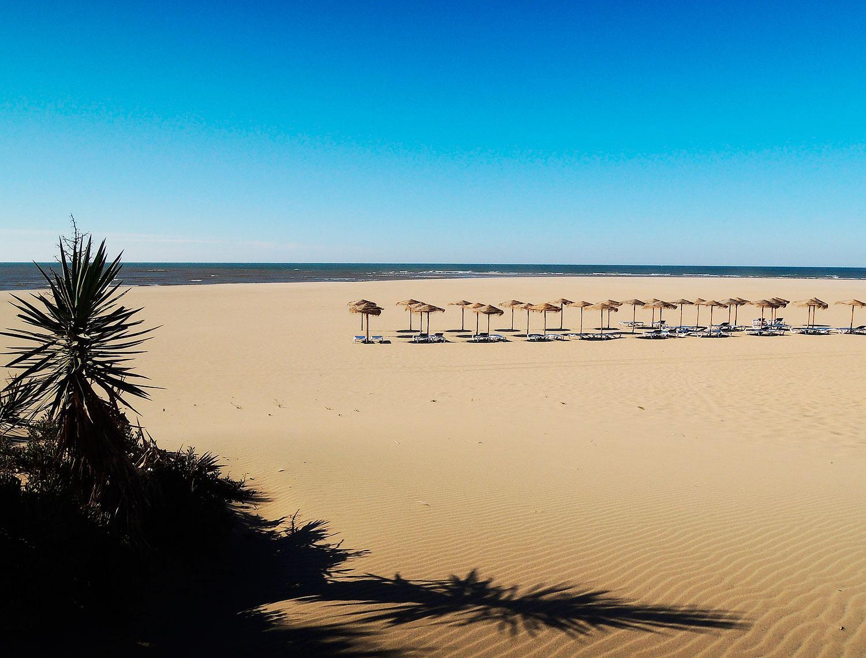 tta lugnet på stranden Isla Canela – precis på gränsen till Portugal.