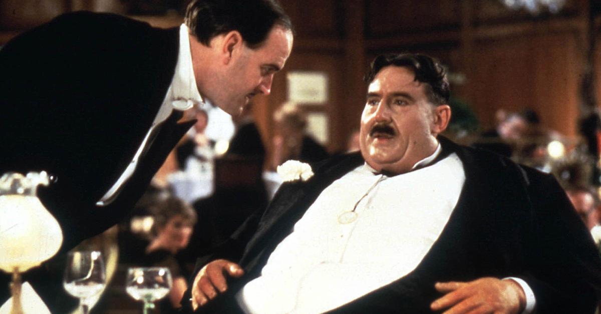 """Mr Creosote i """"Monty Pythons Meningen med livet"""" (1983)."""