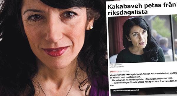 Genom att helt stryka mig från listan visar man nu att man är rädd för att Vänsterpartiets väljare i valet kommer att värdera mitt politiska arbete på ett annat sätt, och markera detta genom personkryss, skriver Amineh Kakabaveh.