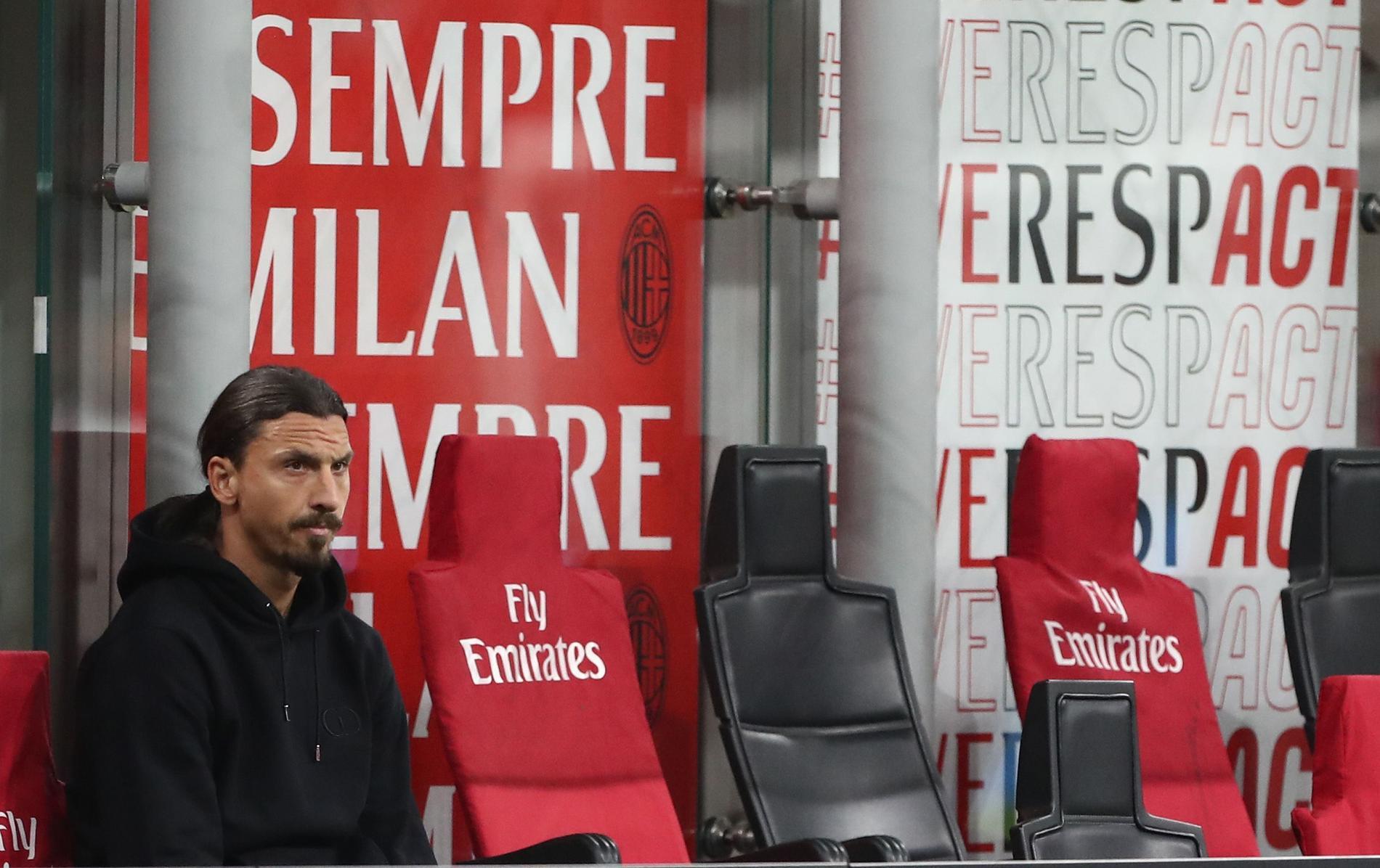 Zlatan har fått sitta bredvid större delen av säsongen.
