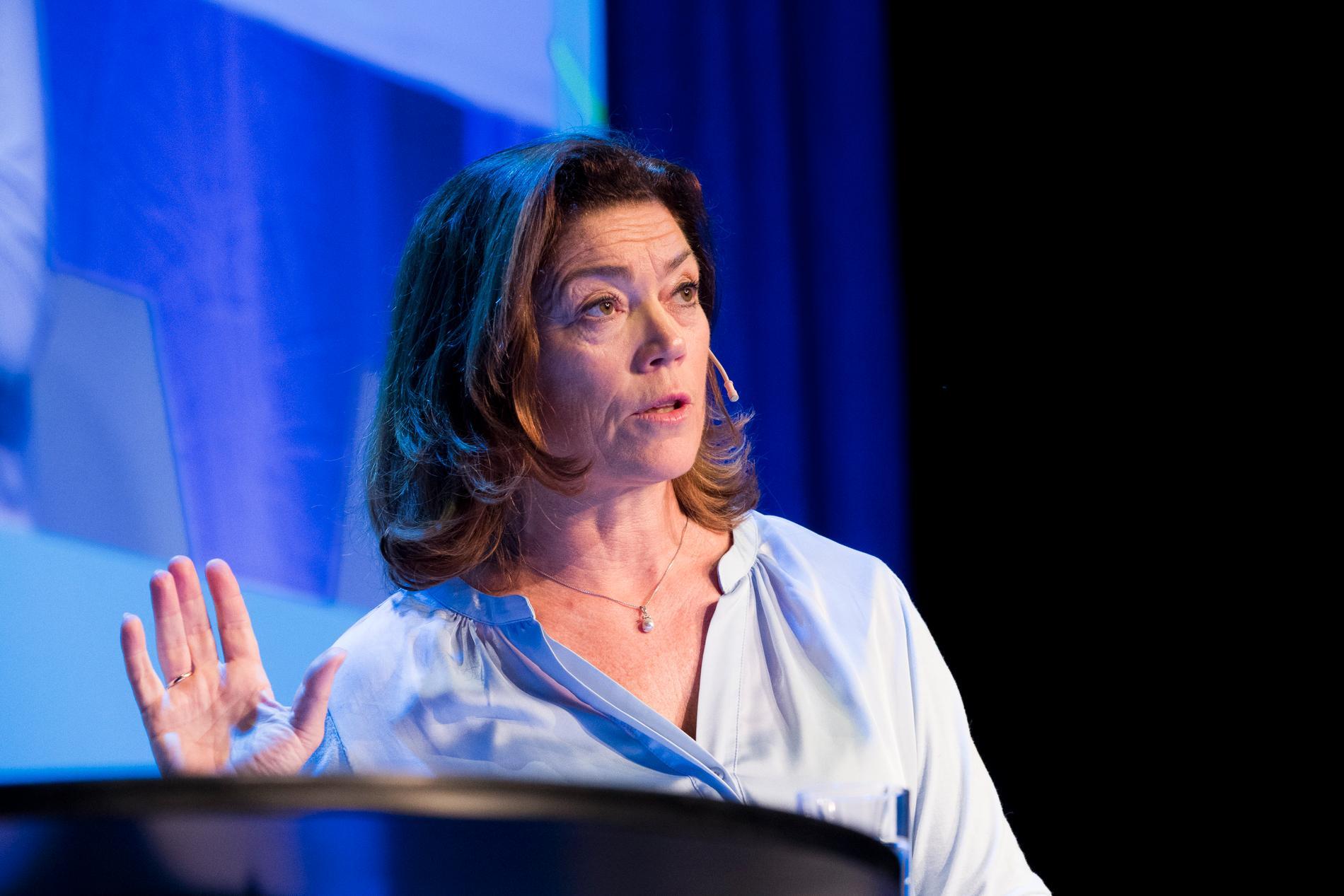 Kristin Skogen Lund, vd för Schibsted. Arkivbild