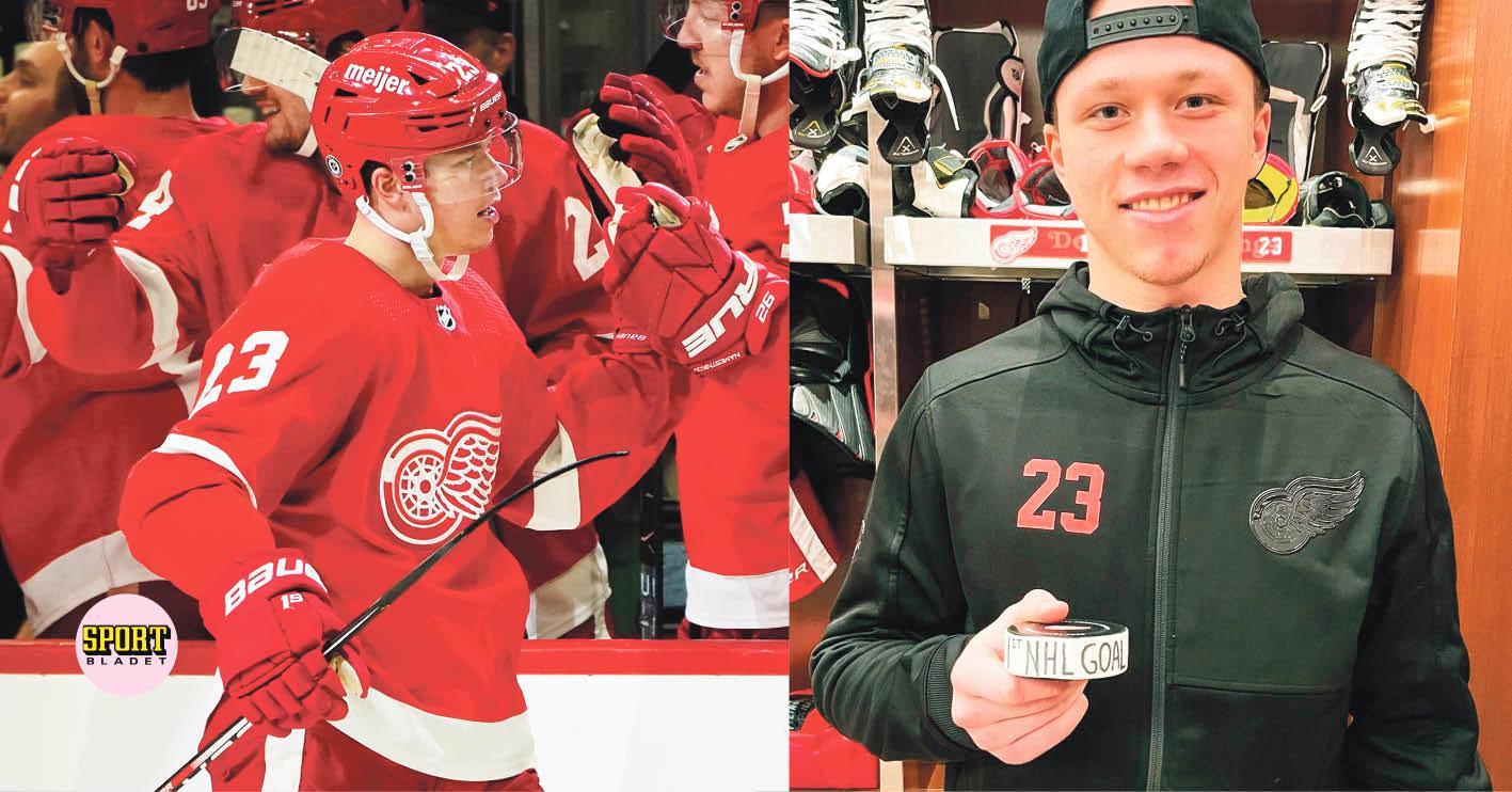 TV: Här skjuter Lucas Raymond sitt första NHL-mål